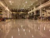 Industrial High bay painting using dry fall coating and 2 coat 100% solids epoxy flooring